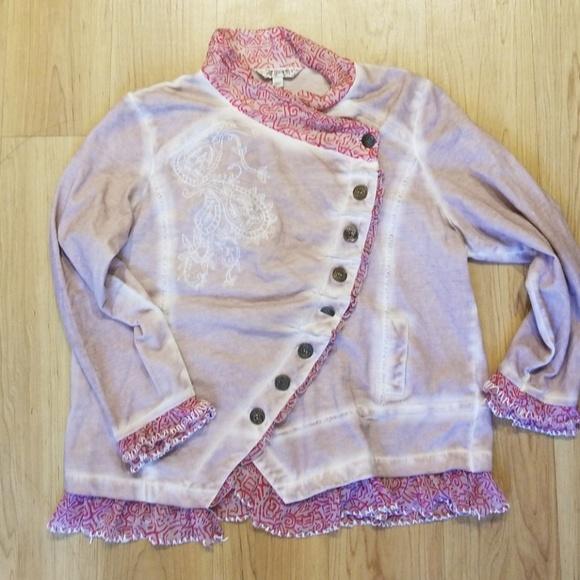 Joe Browns Jackets & Blazers - Joe Brown's Ruffle Embroidered  Button Jacket